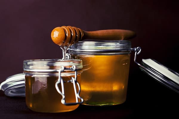 Jar of Raw Unprocessed Honey